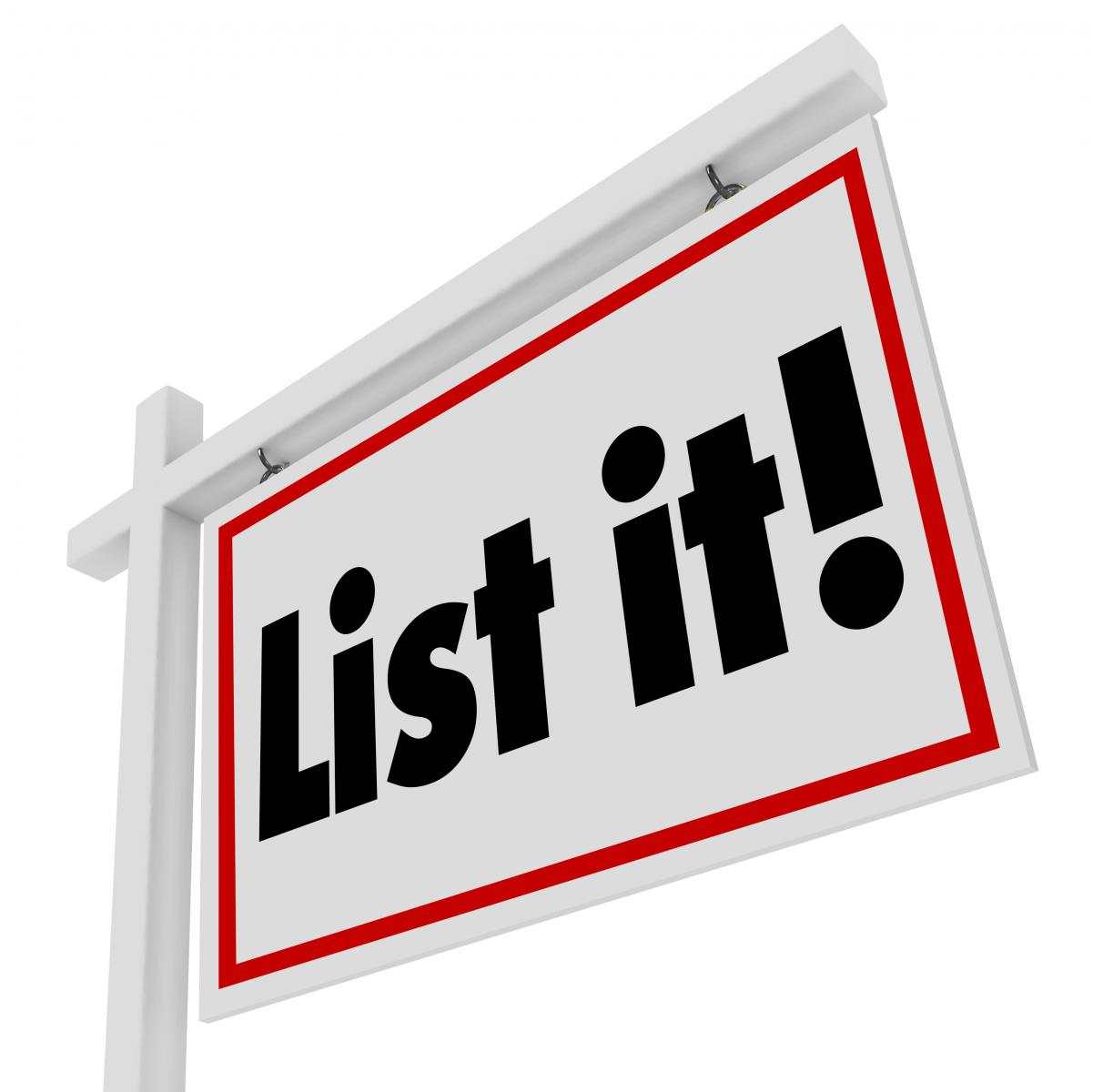 List It Real Estate Sign